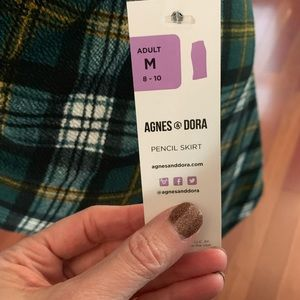 Agnes & Dora Skirts - Pencil Skirt - Green Plaid